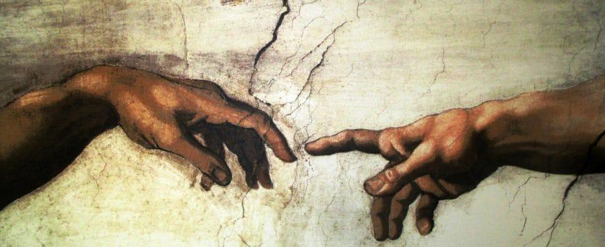 Dio crea Adamo -dettaglio